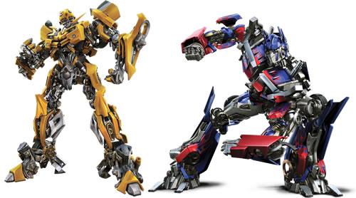 Bumblebee y Optimus Prime